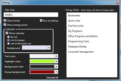 Sidebar (โปรแกรม Sidebar สร้างทางลัดสำหรับเรียกใช้โปรแกรม บน PC ฟรี) :