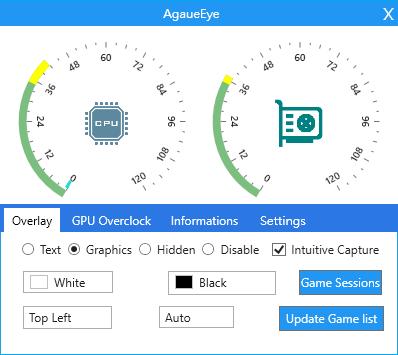 โปรแกรมตรวจวัด FPS เช็คความร้อน AgaueEye