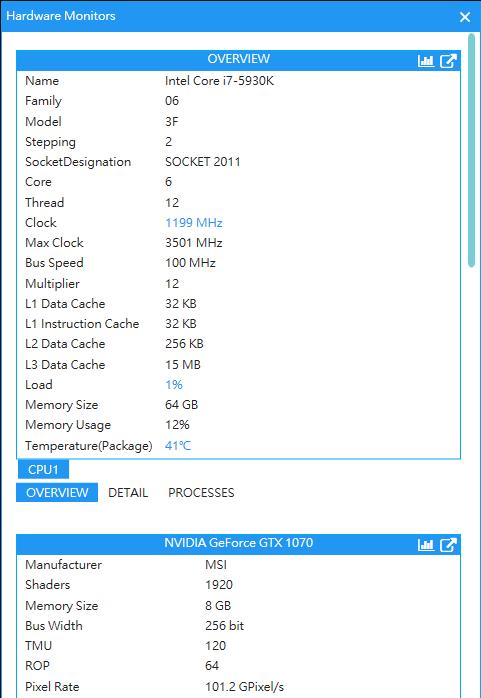 AgaueEye (โปรแกรมดูค่า FPS ดูอุณหภูมิ CPU GPU และ RAM ขณะเล่นเกมส์บน PC ฟรี) :