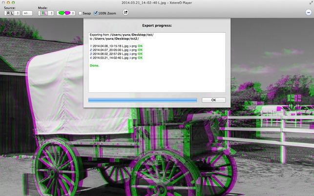 XstereO Player (โปรแกรม XstereO Player ดูรูปภาพ สร้างรูปภาพ สามมิติ 3D บน Mac) :