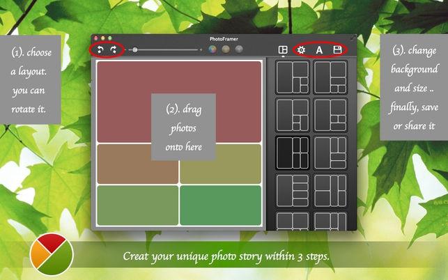 PhotoFramer (โปรแกรม PhotoFramer ใส่กรอบรูปแต่งภาพ หลายรูปในกรอบเดียว บน Mac) :