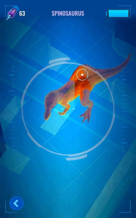 App เกมส์ไล่จับไดโนเสาร์Jurassic World Alive