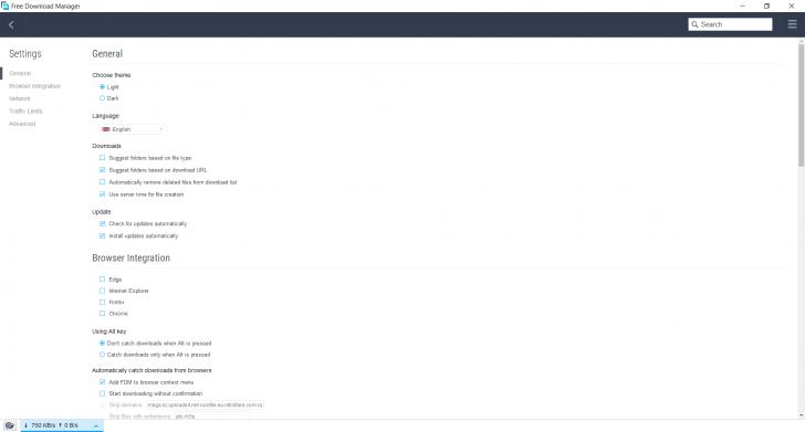 โปรแกรมช่วยดาวน์โหลด Free Download (DL) Manager