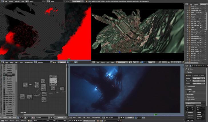 Blender (โปรแกรม Blender ออกแบบ 3 มิติ 3D Animation ใช้ฟรี) :