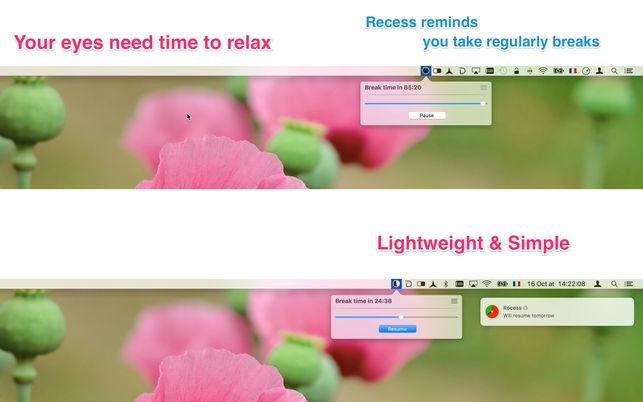 Recess (โปรแกรม Recess หยุดพักเบรค หาเวลาพักช่วงสั้นๆ จากหน้าจอคอม บน Mac) :