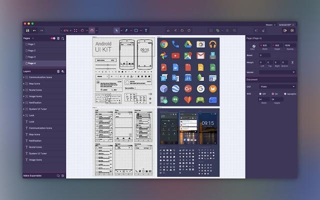 โปรแกรมวาดรูปเวกเตอร์ ฟรี Gravit Designer
