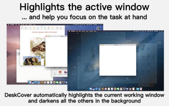 DeskCover (โปรแกรม DeskCover คลุมหน้าจอ ซ่อนไอคอน โฟกัสงานปัจจุบัน บน Mac) :