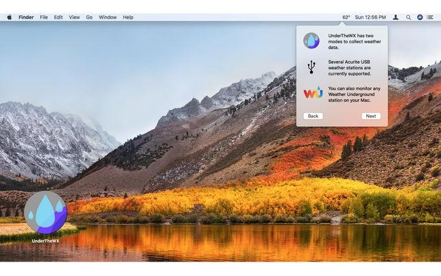 UnderTheWX (โปรแกรม UnderTheWX เช็คสภาพอากาศ ผ่านเมนูบาร์ บน Mac) :