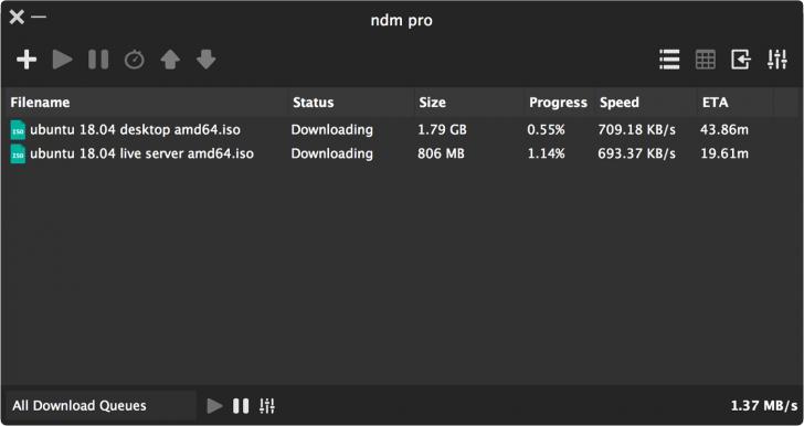 โปรแกรมช่วยดาวน์โหลด Ninja Download Manager