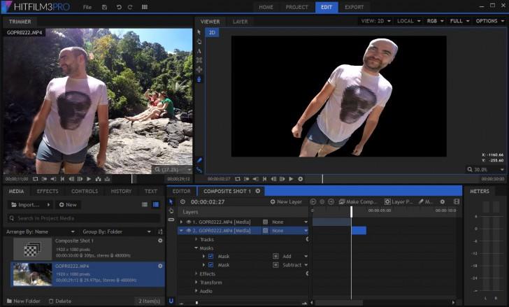 โปรแกรมตัดต่อวีดีโอ Hitfilm Express