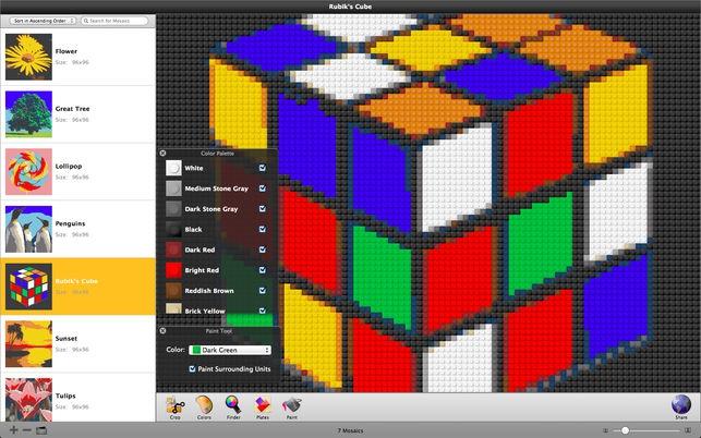 Photobricks (โปรแกรม Photobricks สร้างรูปภาพตัวต่อ หลากหลายสี บน Mac) :