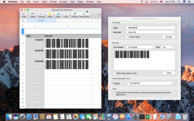 โปรแกรมสร้างบาร์โค้ดConnectCode Barcode Lite