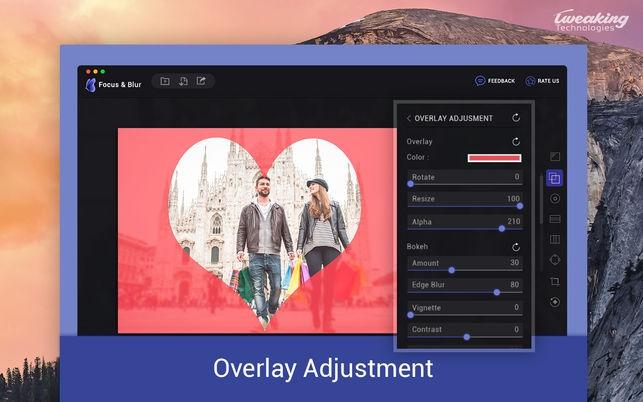 Focus and Blur (โปรแกรม Focus and Blur เอฟเฟคโฟกัส และ เบลอภาพ บน Mac) :