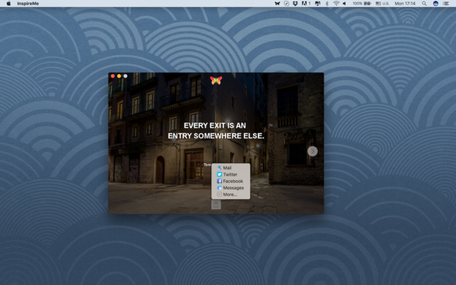 InspireMe (โปรแกรม InspireMe คำคม สร้างแรงบันดาลใจ ประจำวัน บน Mac) :