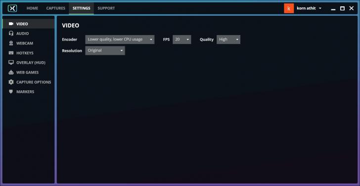 โปรแกรมอัดวีดีโอหน้าจอ FBX Game Recorder