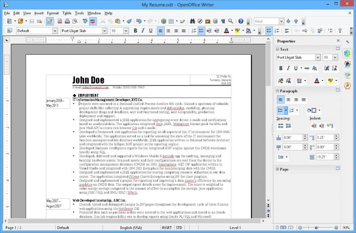 โปรแกรมออฟฟิศ Apache OpenOffice