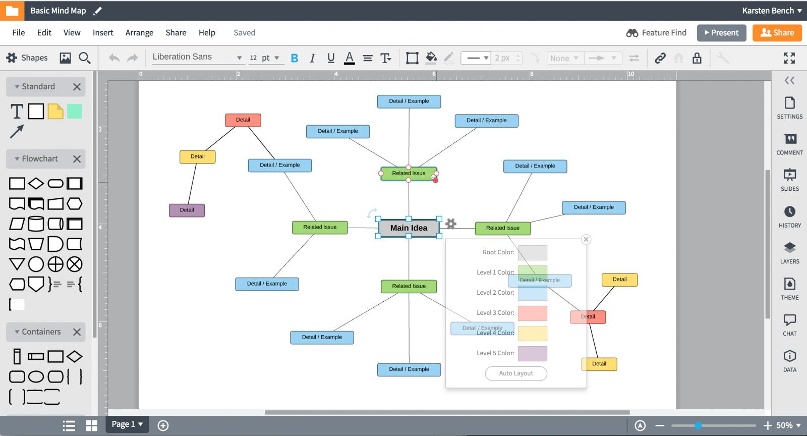 LucidChart (เว็บแอปพลิเคชัน สร้างแผนผัง Mind-Mapping บนเว็บ