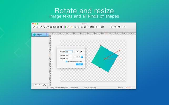 Paint S (โปรแกรม Paint S เครื่องมือวาดรูป และ แต่งภาพในตัว บน Mac) :