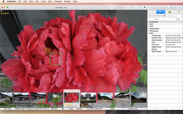 ApolloOne (โปรแกรม ApolloOne เปิดดูรูป รายละเอียดภาพถ่าย บน Mac) :