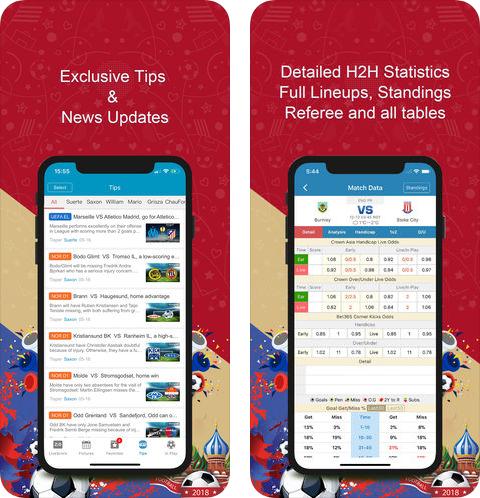 NowGoal Live Football Scores (App รายงานผลฟุตบอลแมตช์ดังทั่วโลก) :