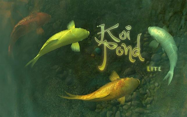 Koi Pond 3D Lite (โปรแกรม Koi Pond 3D Lite บ่อปลาคาร์ฟ พื้นหลัง พักหน้าจอ บน Mac) :