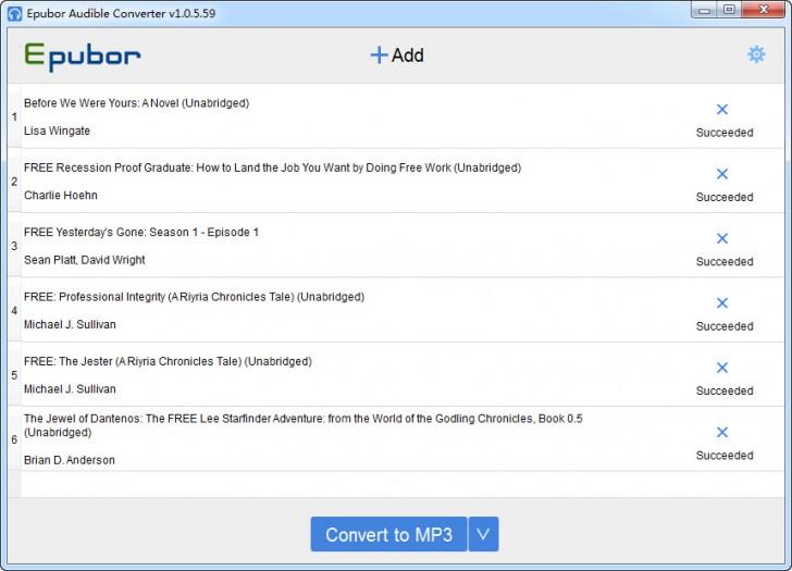 โปรแกรมแปลงไฟล์เสียง Epubor Audible Converter