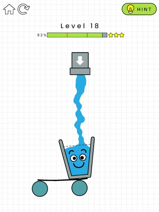 App เกมส์แก้ปริศนาเติมน้ำ Happy Glass