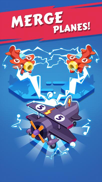 App เกมส์สร้างสายการบินส่วนตัว Merge Plane