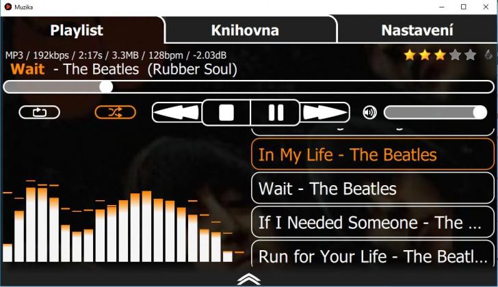 Muzika Player (โปรแกรมเล่นเพลง ฟังเพลง บน PC ฟรี) :