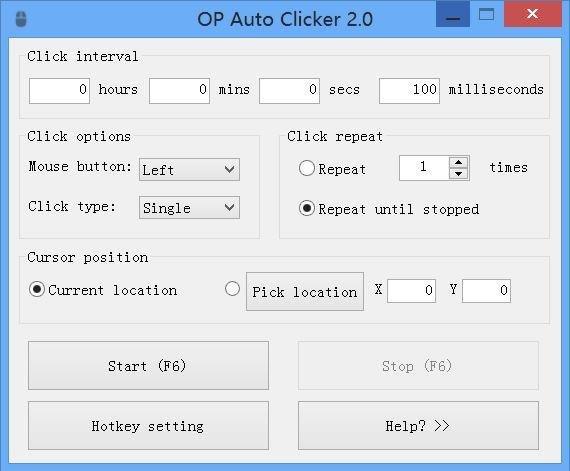 โปรแกรมช่วยคลิก AutoClicker