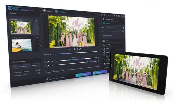 โปรแกรมแก้ไขวีดีโอAshampoo Video Optimizer Pro