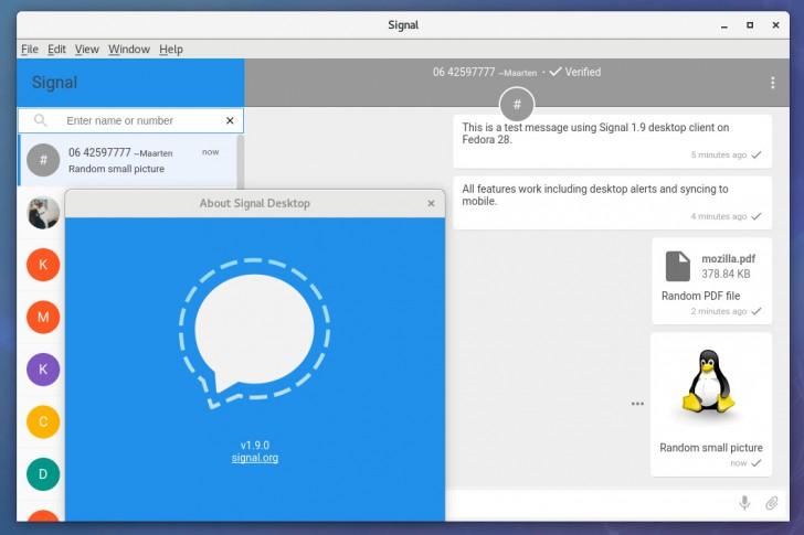 โปรแกรมแชท Signal Desktop