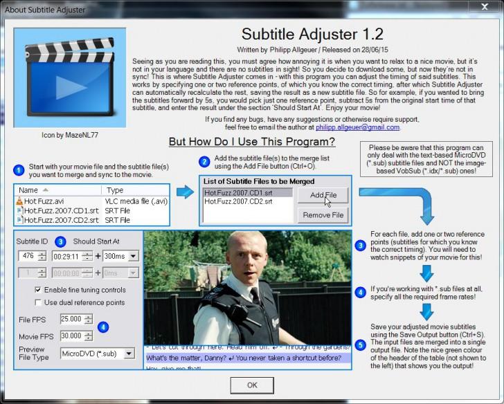 โปรแกรมใส่ซับไตเติ้ล Subtitle Adjuster