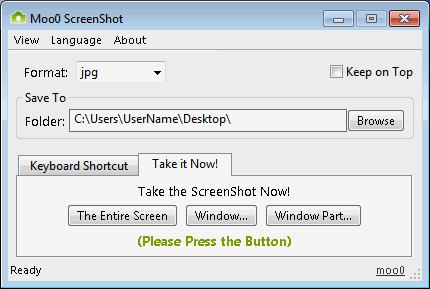 โปรแกรมจับภาพหน้าจอ Moo0 Screenshot