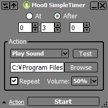 โปรแกรมแจ้งเตือน นาฬิกาปลุก Moo0 Simple Timer