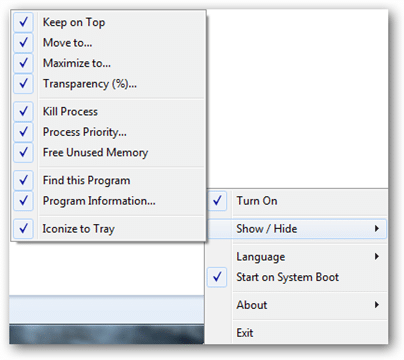 โปรแกรมเพิ่มเมนูลัด Moo0 Window Menu Plus