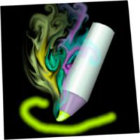Lux Draw (โปรแกรม Lux Draw วาดรูป ระบายพู่กันเรืองแสง บน Mac)