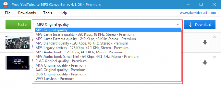 โปรแกรมโหลดเสียง MP3 จากยูทูป Free YouTube to MP3 Converter