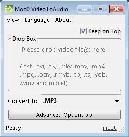 โปรแกรมแยกเสียงจากวีดีโอ Moo0 Video Audio Extractor