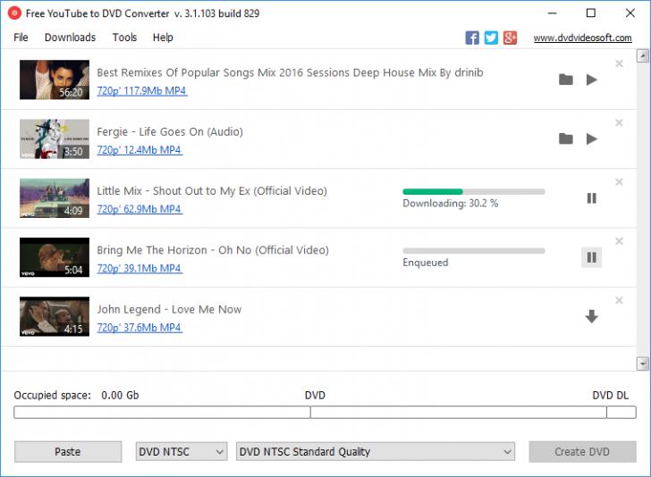 โปรแกรมแปลงวีดีโอยูทูปเป็นดีวีดี Free YouTube to DVD Converter