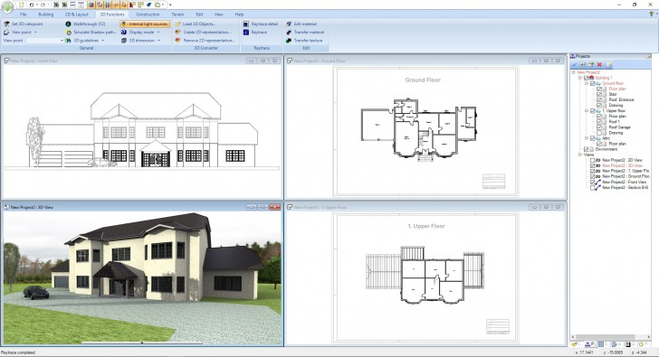 Ashampoo Home Design 5 (โปรแกรมออกแบบบ้าน คฤหาสน์ สุดอลังการ) :