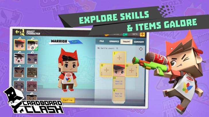 App เกมส์นักรบกล่องกระดาษ Cardboard Clash