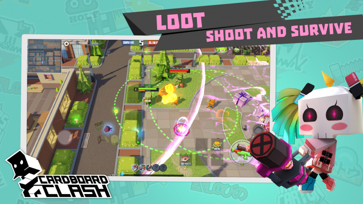 App เกมส์นักรบกล่องกระดาษ Battle Royale Cardboard Clash