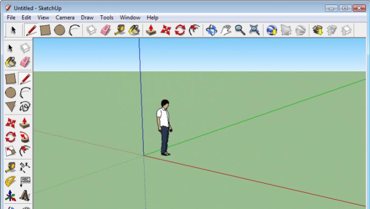 โปรแกรมออกแบบบ้าน 3 มิติGoogle SketchUp