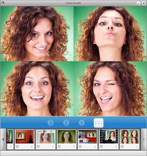 โปรแกรมถ่ายภาพ โปรแกรมถ่ายวีดีโอ จากกล้องเว็บแคม Video Booth