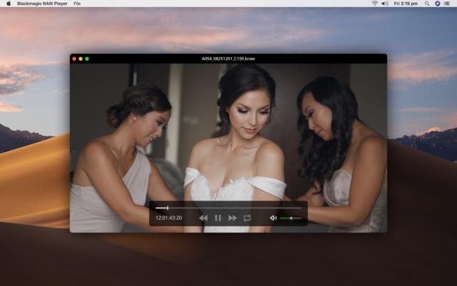 Blackmagic RAW Player (โปรแกรมเปิดไฟล์ RAW ของกล้อง Blackmagic บน Mac) :