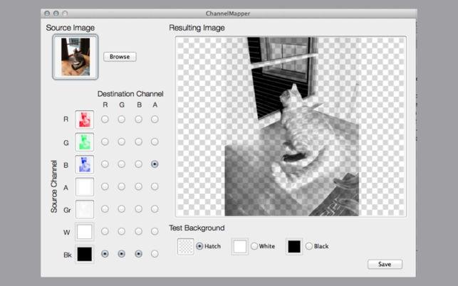 Channel Mapper (โปรแกรม Channel Mapper แยกชาแนลสี รูปภาพ RGB บน Mac) :