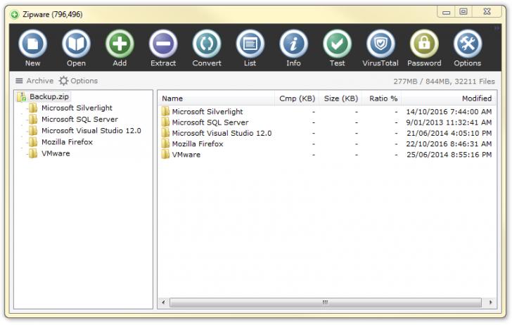 Zipware (โปรแกรม Zipware รวมไฟล์ แตกไฟล์ Zip บน PC อย่างง่าย) :