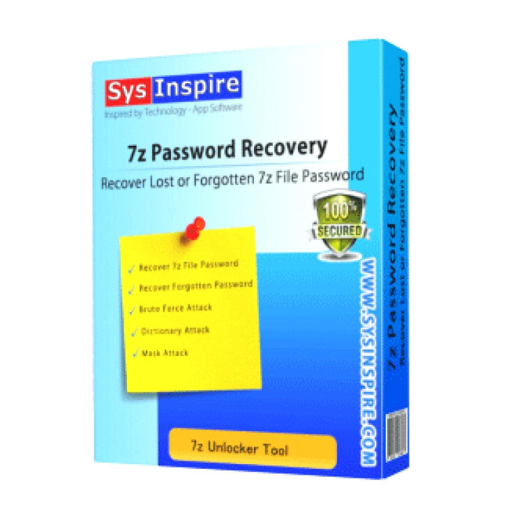 SysInspire 7z Password Recovery (โปรแกรมกู้รหัสผ่านไฟล์ 7z ฟรี)