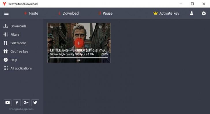 โปรแกรมช่วยดาวน์โหลดวีดีโอยูทูป Free YouTube Download